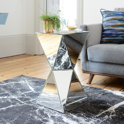 Espello mirrored side table