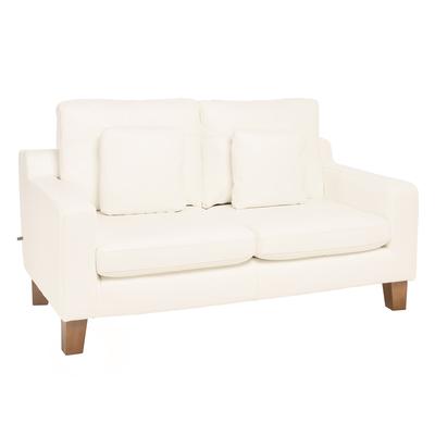 Ankara leather two seater sofa brilliant white