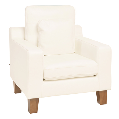 Ankara leather armchair brilliant white
