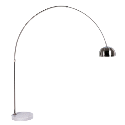 Giant curved floor light with metal shade