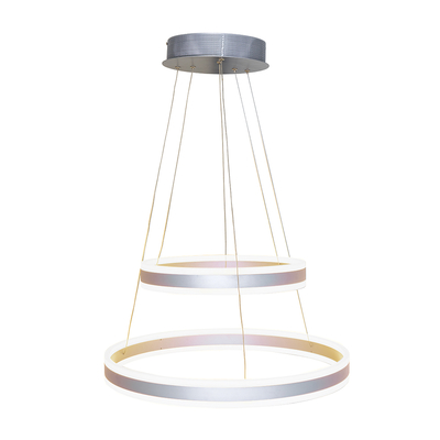 Ribbon LED double ring pendant light