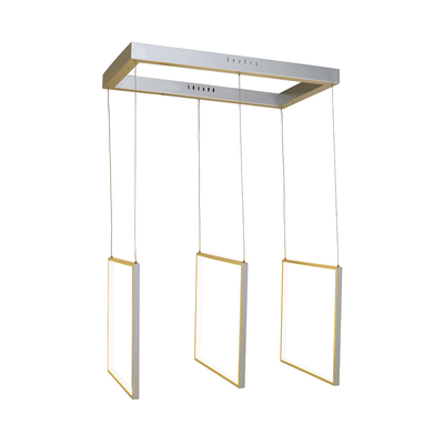Frame triple LED pendant light