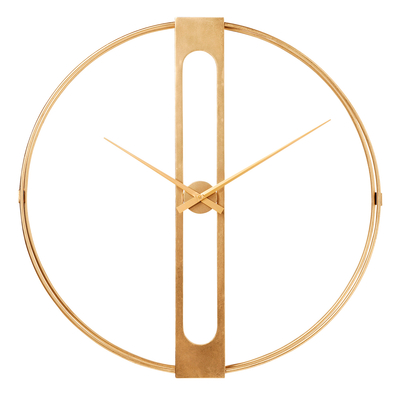 Case wall clock large gold