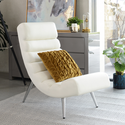 Ripple lounger white