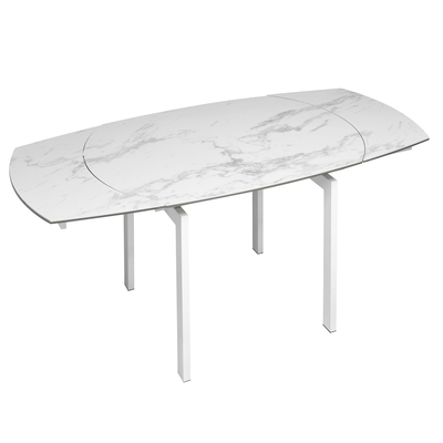 Lexington extending marble effect ceramic 4-6 seater dining table