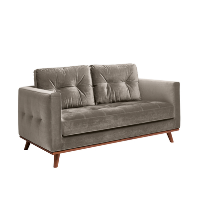 Marseille two seater sofa grey velvet