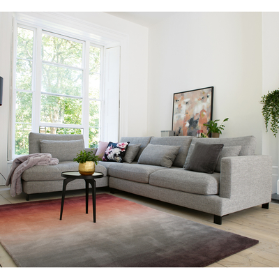 Lugano left hand corner sofa grey