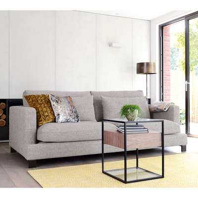 Lugano four seater sofa grey