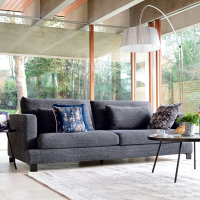 Lugano four seater sofa charcoal