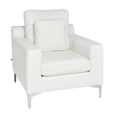 Oslo leather armchair off white