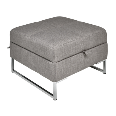 Vienna fabric storage footstool ...