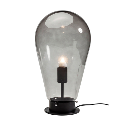 Bulb table light black