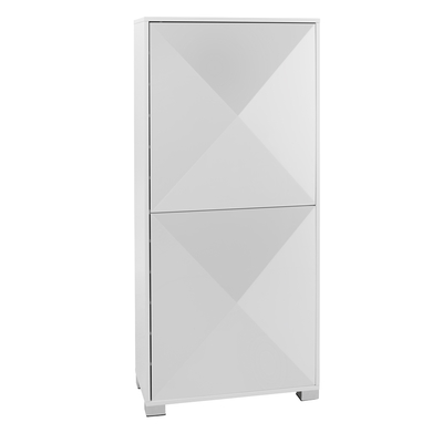 Space gloss shoe cupboard white