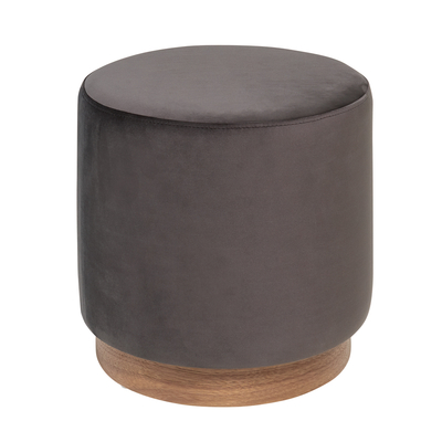 Duo stool grey velvet