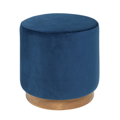 Duo stool blue velvet