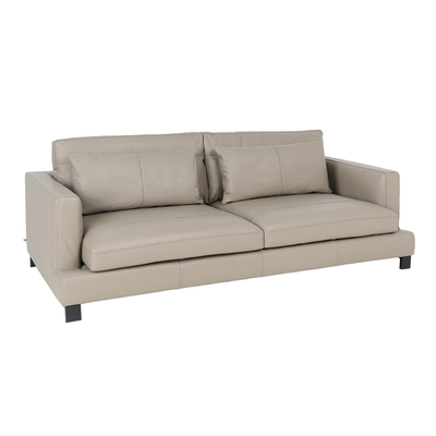 Lugano leather four seater sofa dove grey