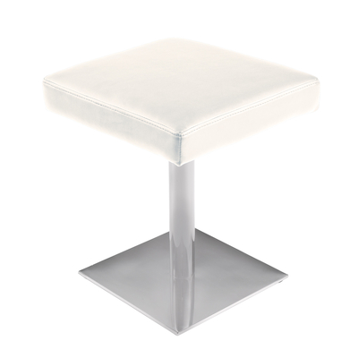 Rotating low padded stool white