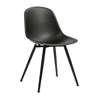 Treviso dining chair black with black leg