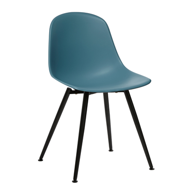 Treviso dining chair teal with black leg