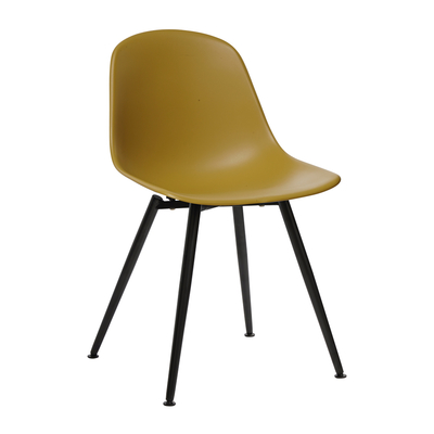 Treviso dining chair mustard with black leg