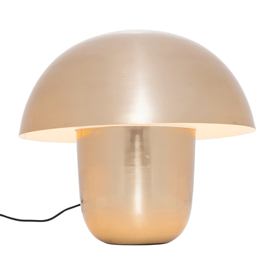 Mushroom table light gold small