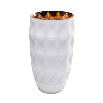 Vaso glass vase white