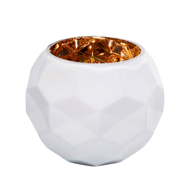 Vaso round glass vase white