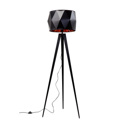 Diamond tripod floor light black