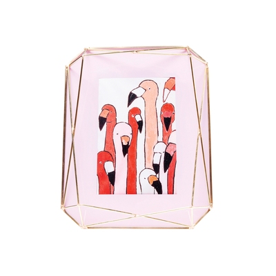 Cage picture frame powder pink 10x15cm