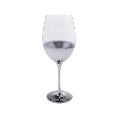 Midnight red wine glass