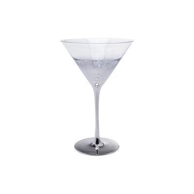 Midnight cocktail glass