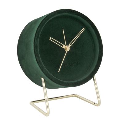 Velvet alarm clock green