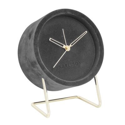 Velvet alarm clock grey