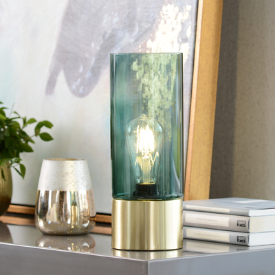 Tinte table light dark green