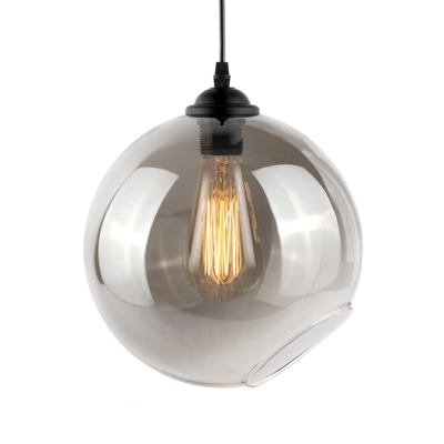Claro round glass pendant light