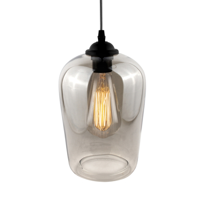 Claro cone glass pendant light