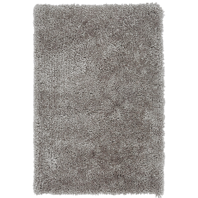 Tufted rug large silver