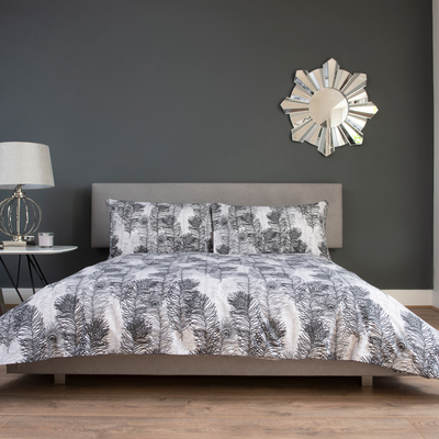 Feathers duvet set king grey