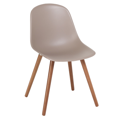 Treviso dining chair with walnut leg stone