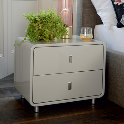 Malone bedside table light grey