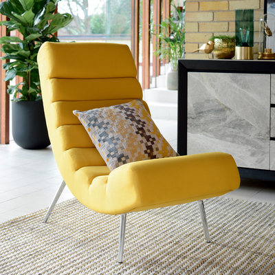 Ripple lounger mustard