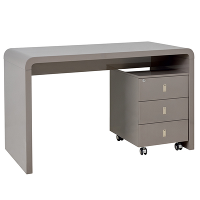 Hudson desk with drawers stone
