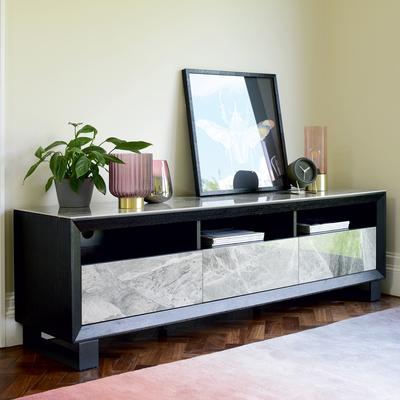 Reno TV unit grey marble ceramic