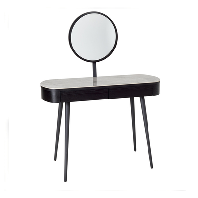 Domina dressing table darkwood and light grey ceramic