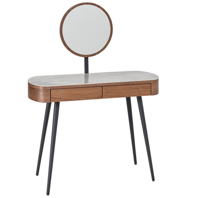 Domina dressing table walnut and light grey ceramic
