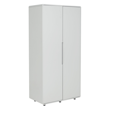 Notch wardrobe two door light grey