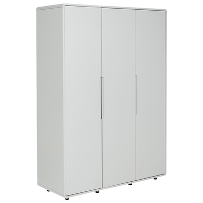 Notch wardrobe three door light grey