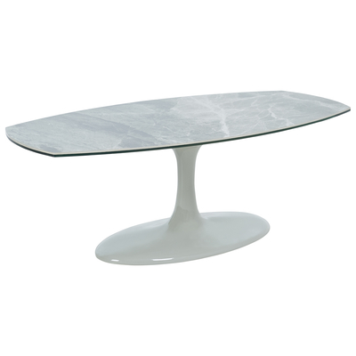 Lille marble ceramic coffee table light grey