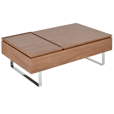 Reveal coffee table double lifting walnut