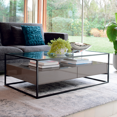 Drift coffee table stone gloss